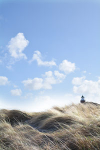 Lighthouse in the dunes on the island of Sylt, Kampen, Germany