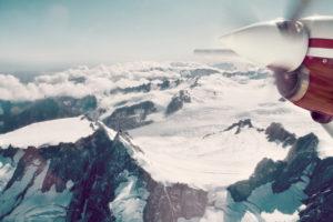 Fly over Franz Josef Glacier, New Zeland