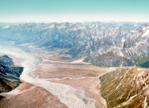 Panoramic View Over Fox Glacier South Island New Zealand