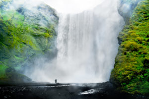 Skógafoss,  Waterfall at Iceland