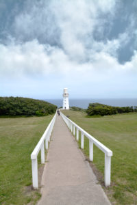 Way to the white Lighthouse, Great Ocean Road, New Zealand