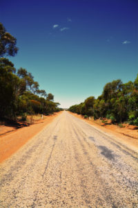 dirt road in outback Australia