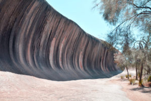 Wave Rock, Colourful, wave-shaped granite cliff, West Australia