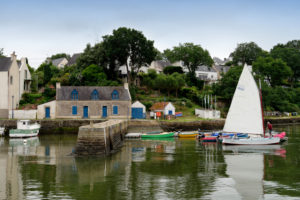 Harbour of Le Bono, Departement Morbihan, Brittany, France