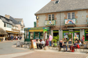 Restaurants in Ploumanach on the Cote de Granit Rose, Cotes d'Armor, Brittany, France