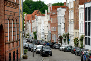 Old town with town houses, Lübeck, UNESCO World Heritage, Schleswig-Holstein, Germany