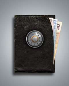 3d, CGI, [M], symbol, purse, euro, protection, combination lock, money, finances,