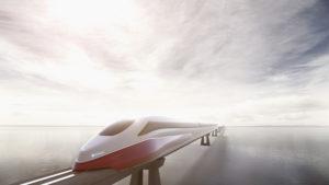 Train, future, sea, horizon, industry