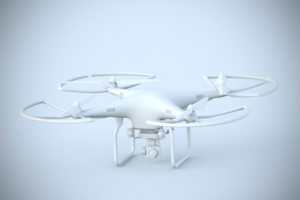 [M] CGI, 3-D, computer graphics of a polygon model, drone