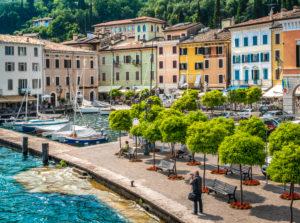 Gargnano, harbour, promenade