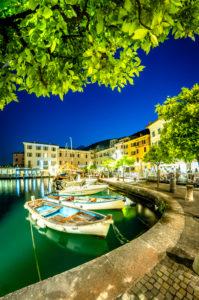 Gargnano, harbour at night