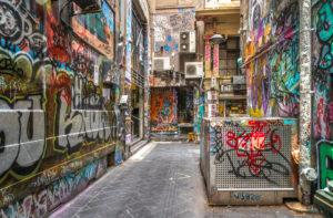 Australien, Melbourne, Stadtbild, Graffiti