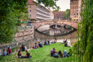 Nuremberg, picnic at the Pegnitz