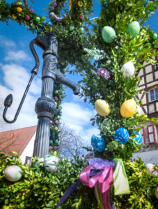Easter fountain in Franconia