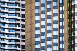 Australia, Sydney, skyscraper facade, detail