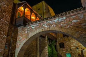Night in Spello, province of Perugia, Umbria, Italy