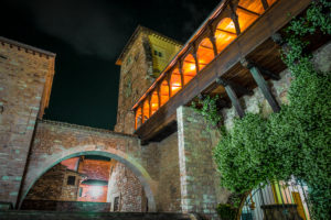 Night in Spello, province of Perugia, Umbria, Italy