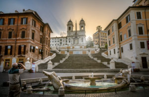 Spanish stairs in Rome, Lazio, Italy