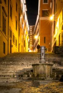 Gasse in Rom, Latium, Italien
