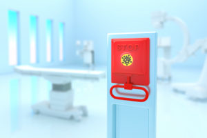 Intensive care unit Corona emergency brake, CGI