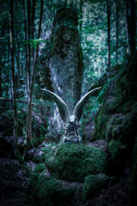 Mysticism, angels in the forest, CGI