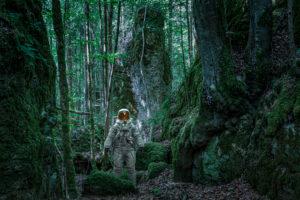 Astronaut im Wald, CGI