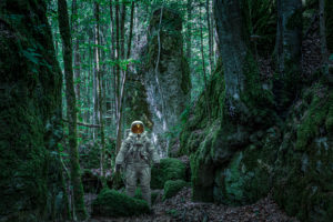 Astronaut in the forest, CGI