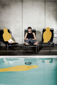 Diego Ribas da Cunha, portrait, pool, soccer player,