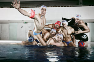 Water polo, German national team, team portrait,