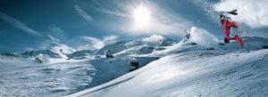 Skifahrer, Sprung, Salto,