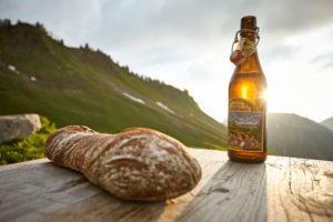 Snack at the Klewenalp near Beckenried in Switzerland
