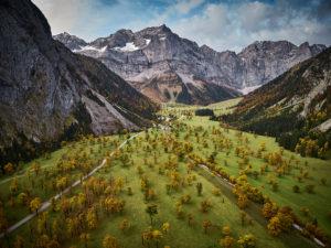 Blick in das Engtal, Tirol, Österreich
