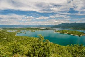 View on the Slansko lake at Niksic, Montenegro.