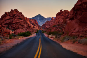 USA, United States of America, Nevada, Valley of Fire, National Park, Mouse Tank Road, Sierra Nevada, California