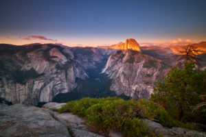 USA, United States of America, Half Dome im Yosemite National Park, California
