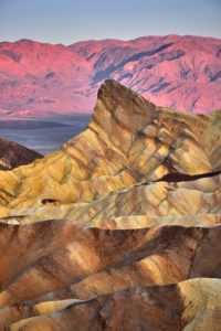 USA, United States of America, Nevada,  Death Valley National Park, Zabriskie Point, Sierra Nevada, California