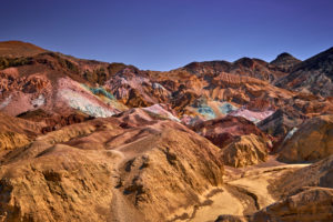USA, United States of America, Nevada,  Death Valley National Park, Artists Palette, Artist Drive, Sierra Nevada, California