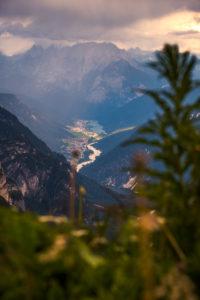 Tre Cime di Lavaredo, Sexten, Belluno, Rifugio Auronzo, South Tyrol, Dolomites, Italy, View to Auronzo di cadore and lake lago di santa caterina,