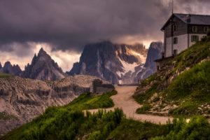 Tre Cime di Lavaredo, Sexten, Belluno, Rifugio Auronzo, South Tyrol, Dolomites, Italy, Hut,