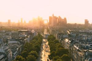 Europe, France, Paris, Arc de Triomphe, Place Charles de Gaulle, Champs Elysees,