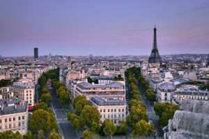 Europe, France, Paris, Arc de Triomphe, Place Charles de Gaulle, Champs Elysees,