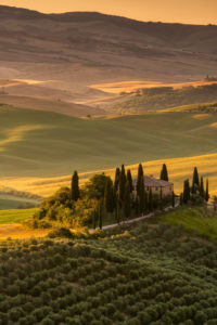 Europe, Italy, Val d'Orcia, San Quirico, Pordere Belvedere, Agritourismo, Tuscany, Tuscan Landscape,