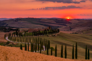Europe, Italy, Agriturismo Baccoleno, 53041 Asciano SI, Tuscany, Tuscan Landscape, Province of Siena,