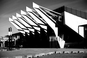 Bremen, Deutschland, Die moderne Glasfassade mit Stahlkonstruktion der ÖVB Arena