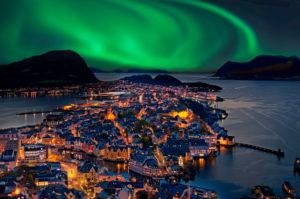 Northern Lights, Alesund, Norway