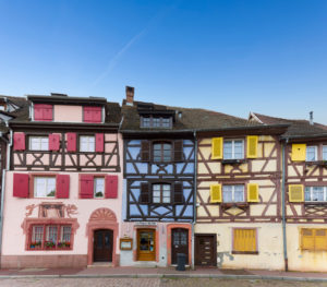 France, Alsace, Colmar, half-timbered houses