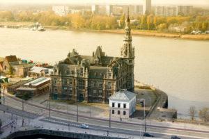 Buildings in the port of Antwerp