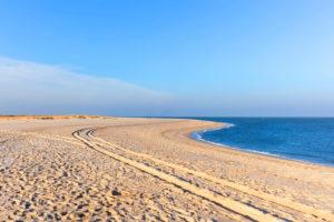 deserted beach on the island of Sylt, Schleswig-Holstein, Deutschland