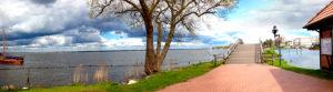 Lake Steinhuder Meer in Lower Saxony, Germany