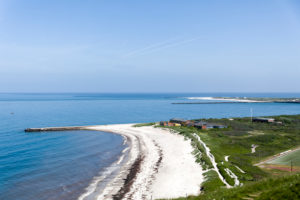 Panorama from the beach on Heligoland, Schleswig-Holstein, Germany